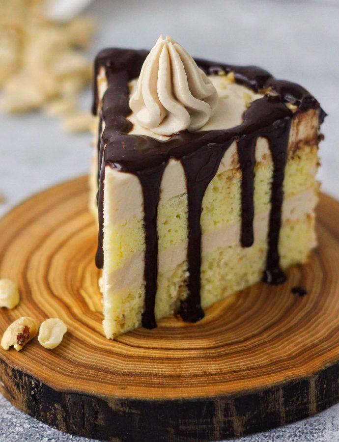 Задание 7. ПП торт Ореховый. Шоколадные подтеки