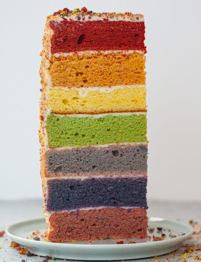 Урок 8. Радужный торт (красим бисквиты)